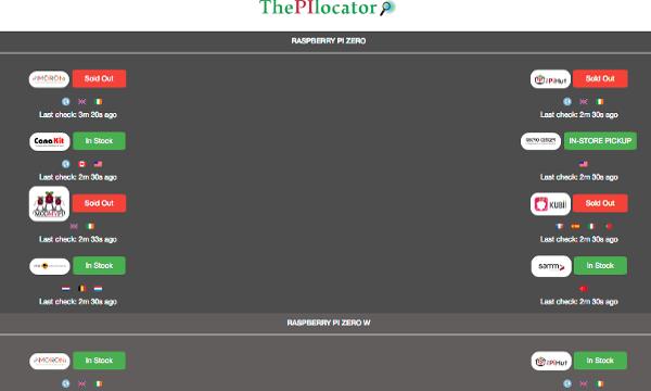 ThePiLocator, comprare Raspberry Pi Zero non è mai stato così facile.