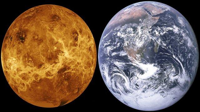 Venere, confronto venere-terra