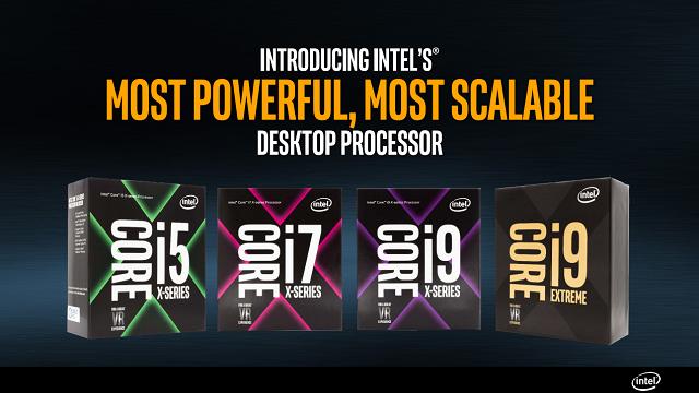 Intel presenta nuovi Core i9 Serie X ancora più potenti