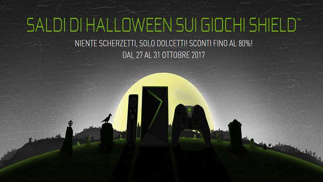 NVIDIA SHIELD: saldi di Halloween fino all'80%