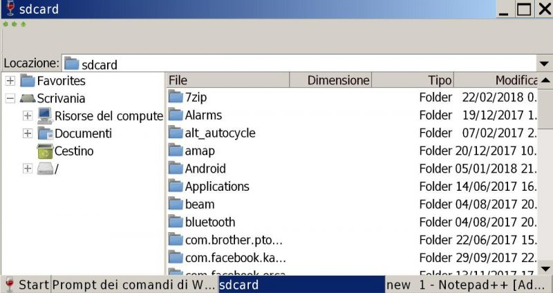 Wine - File Manager