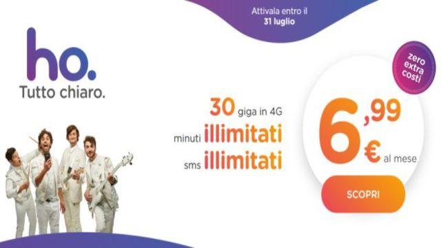 """Vodafone risponde ad Iliad con il suo operartore virtuale: ecco """"ho."""", 30GB e min/sms illimitati a 7€/mese"""