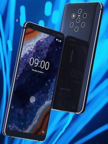 Nokia 9 con 5 Fotocamere