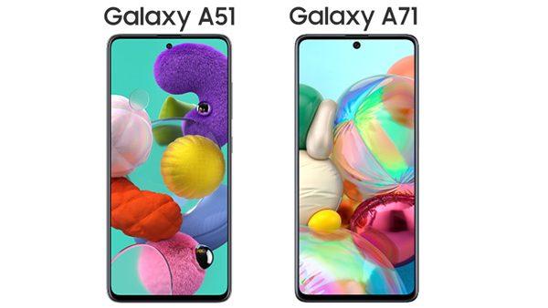 Galaxy A51 e Galaxy A71